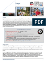 Operation AmeriCorps Fact Sheet 2014