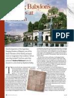 Finding Babylon's Gardens at Nineveh