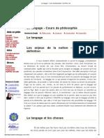 Le Langage - Cours de Philosophie - Ma Philo