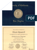 Hicare Research gets the Ucla certification for the Global Access Program