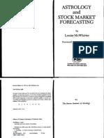 Astrology and Stock Market Forecasting McWhirter