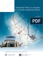 Industrial Policy in Punjab a Case Study of Sundar Industrial Estate