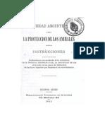 Sarmiento - Instrucciones Para La Sociedad Arg. Para La Protección de Animales