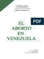 Ensayo El Aborto en Venezuela