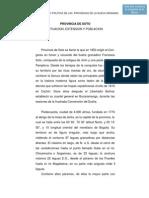 Provincia de Soto Situacion, Extenson y Poblacion