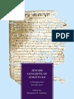 Sommer, Benjamin D. Jewish Concepts of Scripture