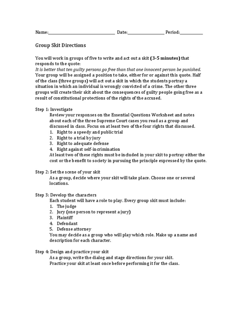Rights of The Accused Skit  PDF