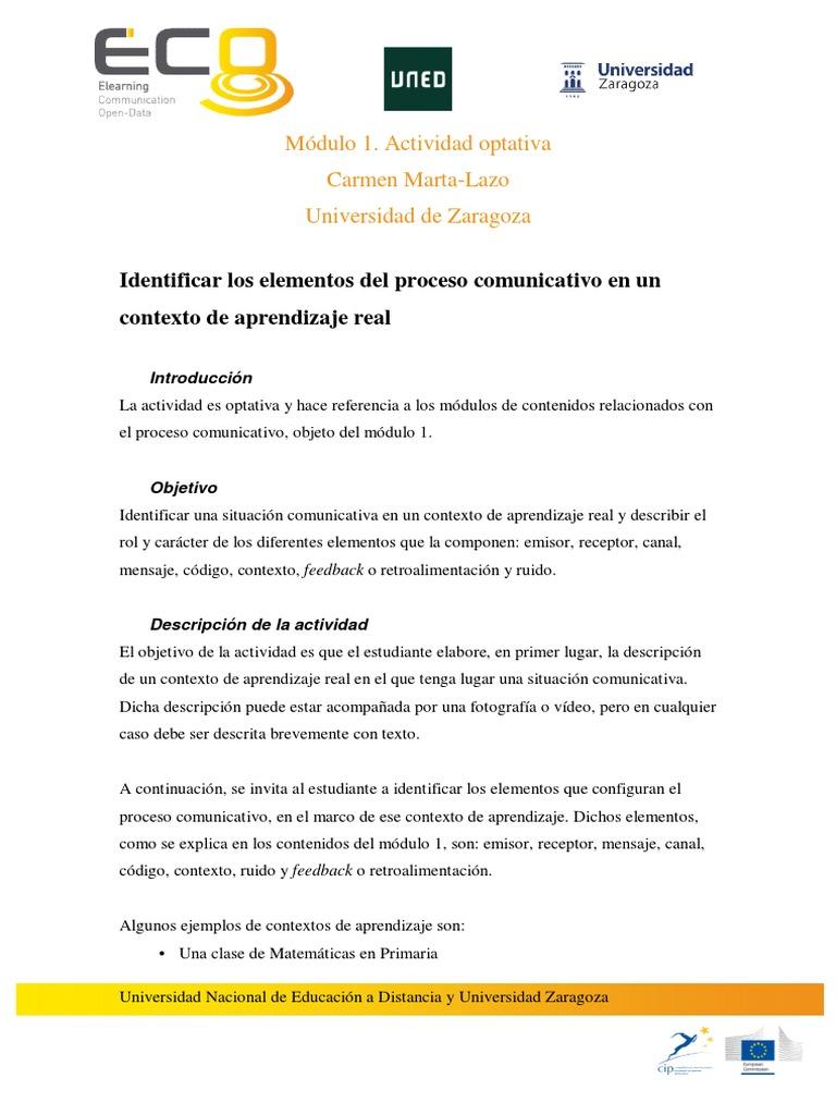 Actividad Módulo 1 Mooc Comunicación Y Aprendizaje Móvil