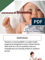 Newborn screening- Dr. T. Ghosh