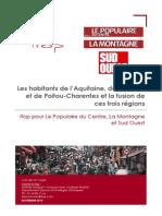 Sondage Ifop / Centre France / Sud-Ouest - Fusion des régions
