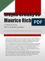 wayne gretzky vs maurice richard