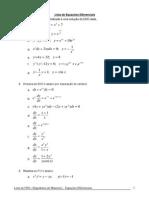 Lista de Equações Diferenciais_2014