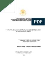 Catastro, evaluación estructural y georeferenciación de los puentes IX  región