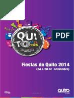 Programación Fiestas de Quito 24-28 noviembre