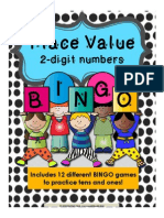 place value bingo game - 2 digit numbers preview