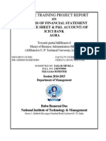 Analysis of Financial Statement (Balance Sheet & p&l Account) of Icici Bank