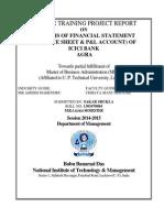 Analysis of Financial Statement (Balance Sheet & p&l Account) of Icici Bank