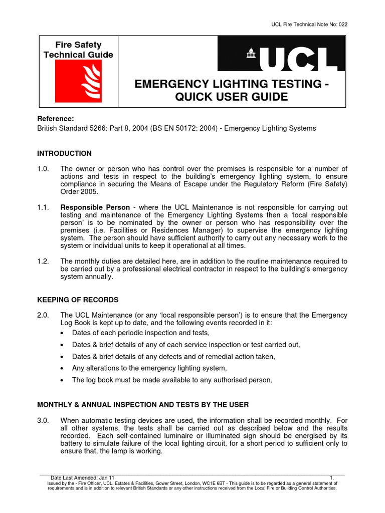 sc 1 st  Scribd & Emergency Lighting Testing | Lighting | Light Emitting Diode