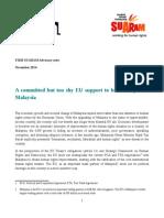 November 2014_FIDH-SUARAM Advocacy Note EU-Malaysia