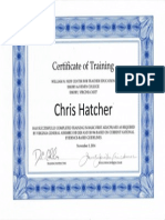 certificate of training new