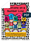 fractions on number line bingo game preview