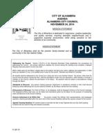 Alhambra City Council agenda Nov 24