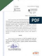 15-01-09 Ruego Comisión Investigación El Rosón