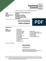 Governing Body - November 14 - Agenda