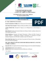 Programa FINAL ALCUE Guadalajara 24 Nov 2014