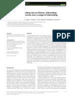The effect of inbreeding rate on fitness, inbreeding depression and heterosis over a range of inbreeding coefficients