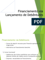 Financiamento via Debêntures