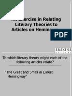 Hemingwayliterarytheoryexample