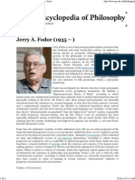 Jerry Fodor - Internet Encyclopedia of Philosophy