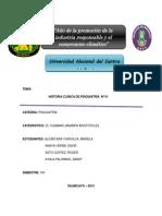 Historia Clinica de Psiquiatria