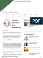 Twelve Houses of the Horoscope by Ritu Shukla - Astrospeak