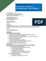 """""""Orientación, Consejería y Terapia Familiar y de Pareja"""" 2015"""