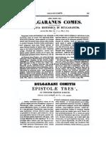 0610-0610, Bulgaranus Comes, Epistolae Tres Ad Episcopum Franciae Directae, MLT