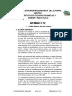 Informe 12 Final de Lab d Quimica