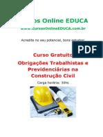 Curso Obrigacoes Trabalhistas e Previdenciarias Na Construcao Civil