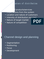 Nature of Distribution Channels