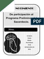 Reconocimiento Preliminar del Sacerdocio - Conexión SUD