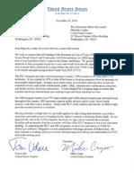 Tester Letter to Senate Leaders on PILT-SRS
