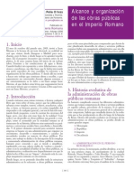 Alcance y Organización de Las Obras Públicas en El Imperio Romano
