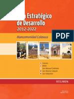 Plan Estratégico de Desarrollo 2012-2022 Mancomunidad Colosuca