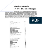 Budget Instructions FY 2014-15 Single Document