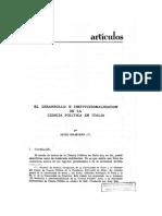 Institucionalizacion Ciencia Politica Italiana