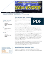 Dream Divers January 2010 Newsletter