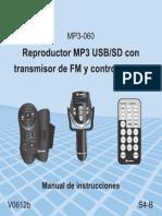 Transmisor de FM Con Manual Al Volante