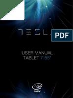 Tesla 785 Tablet User Manual