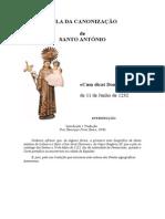 Bula Da Canonização s. António